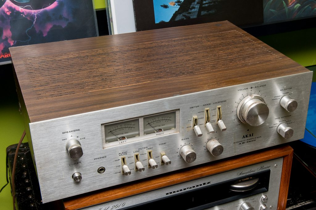 Magnasonic Ultrasonic Cleaner - Restoring Vintage Stereo Receiver - Before Picture