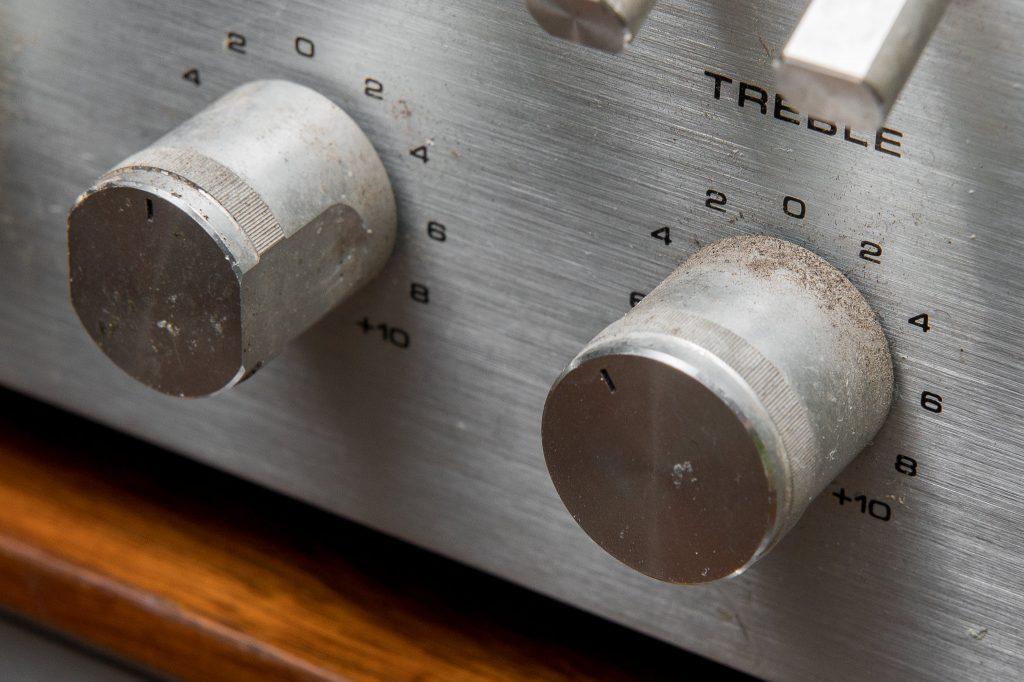 Magnasonic Ultrasonic Cleaner - Restoring Vintage Stereo Receiver - Before Photo